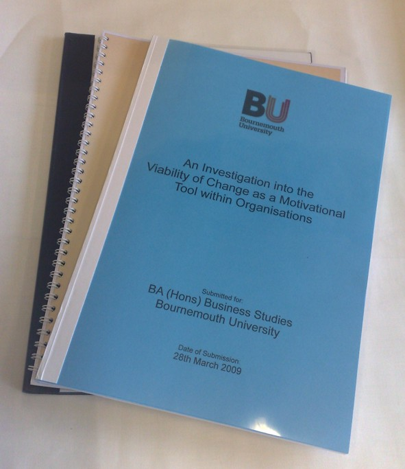 Bournemouth university dissertation proposal